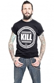 Kill Brand Mens Swag Logo Circle T-shirt