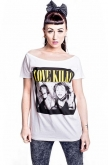Kill Brand Womens Love Kills White T-shirt