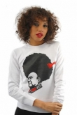Cocoabella White Hairman Sweatshirt