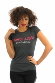 Cocoabella Grey Make Love not Babies T-shirt