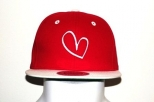 Show Love Red and White Snap Back Cap