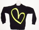 Show Love Neon Yellow On Black Sweatshirt