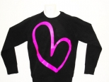 Show Love Black and Hot Pink Sweatshirt