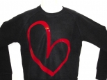 Show Love Black and Dark Red Sweatshirt