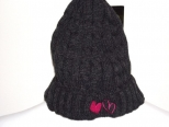 Show Love Grey and Pink Wooly Hat