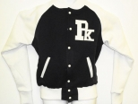 Patrick Kevin Navy and White Varsity Jacket