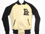 Patrick Kevin Cream and Brown Varsity Jacket