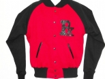 Patrick Kevin Red and Black Varsity Jacket