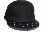 Patrick Kevin Black on Black Spiked Snapback
