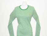 Ralph Lauren Womens Long Sleeve Green and White
