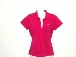 Ralph Lauren Womens Pink Fitted Polo