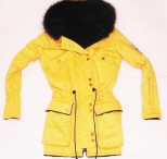 Patrick Kevin Womens Yellow Fitted Jacket