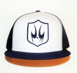 Patrick Kevin White and Navy Trucker Snapback