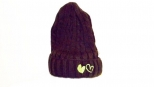 Show Love Brown and Green Heart Wooly Hat