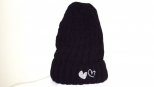 Show Love Black and White Heart Wooly Hat