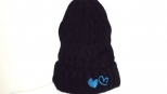 Show Love Black and Blue Heart Wooly Hat